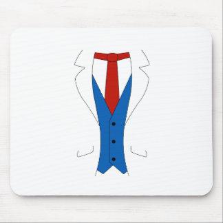 White Suit Mouse Pad