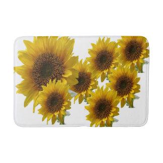 WHite sunflower medium batH mat