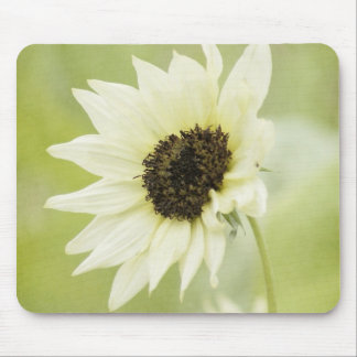 White Sunflower mouse pad