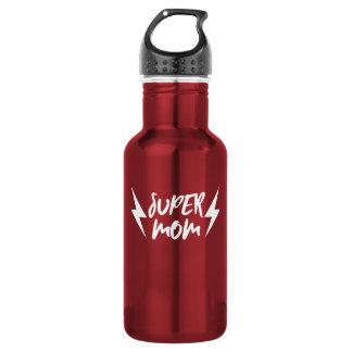 White Super Mom Lightning Bolt Rock'n Roll Script 532 Ml Water Bottle