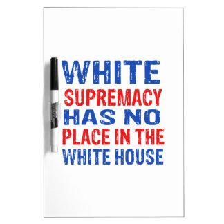 white supremacy design dry erase board