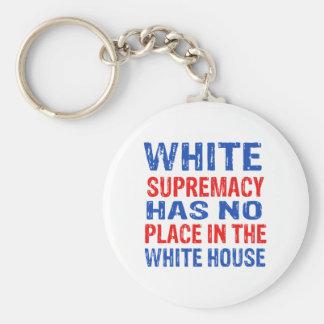 white supremacy design keychain