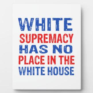white supremacy design plaque