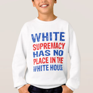 white supremacy design sweatshirt