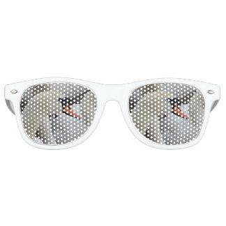 White Swan Adult Retro Party Shades, White Sunglasses