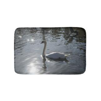 White Swan Bath Mat