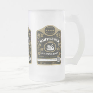 White Swan Brandy Vintage Liquor Label Mugs, Stein