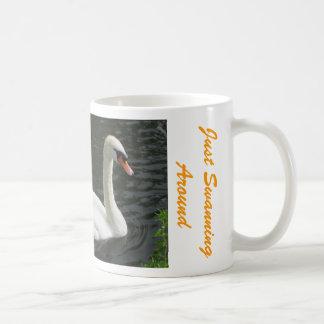White Swan On The River Avon Coffee Mug