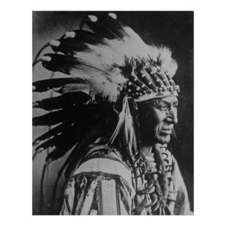 White Swan Sioux Chief Native American Poster
