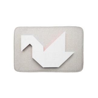 White Swan Tangram Bath Mat