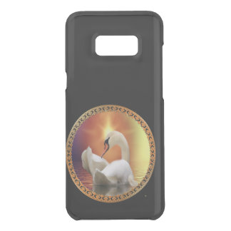 White Swan with gold and orange backdrop Uncommon Samsung Galaxy S8 Plus Case