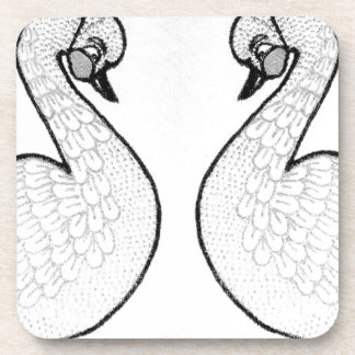 White swans beverage coasters