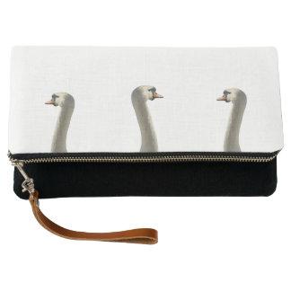White Swans Clutch Bag