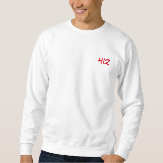 "White Sweat ""412 "" Sweatshirt"