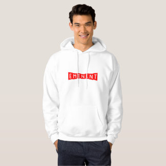 White Sweat - Brand Logo (Red) Hoodie