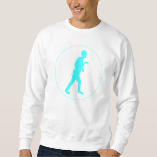 White Sweat Shirt w/ Blue Dino Mode Logo