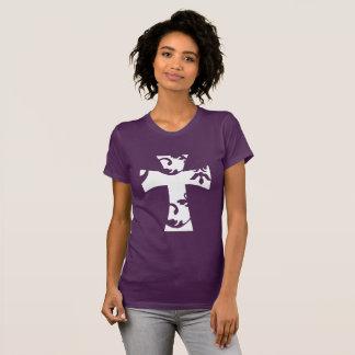 White Swirl Cross T-Shirt