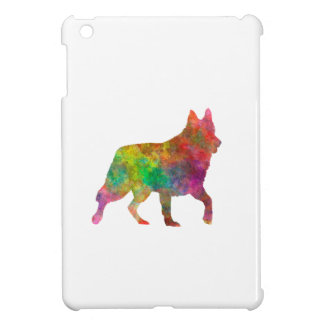 White Swiss Shepherd Dog in watercolor Cover For The iPad Mini