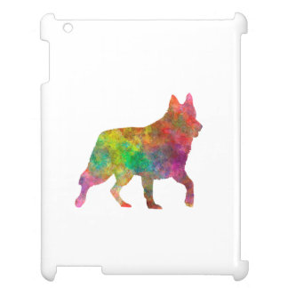 White Swiss Shepherd Dog in watercolor iPad Cover