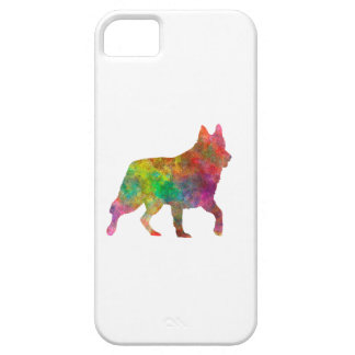 White Swiss Shepherd Dog in watercolor iPhone 5 Cases