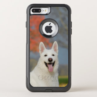 White Swiss Shepherd Dog Photo . Cute Furry Friend OtterBox Commuter iPhone 8 Plus/7 Plus Case