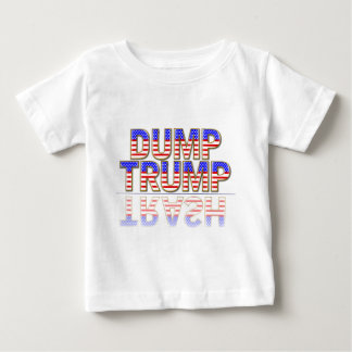 White T-Shirt Dump Trump Trash Drumpf
