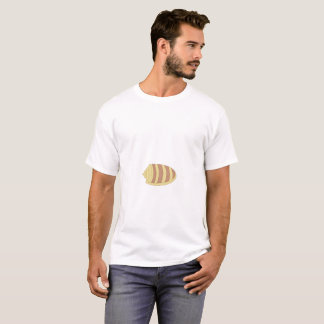 white t-shirt for men with shell design