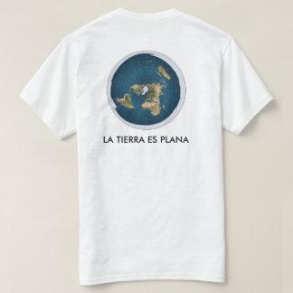 white t-shirt map flat earth