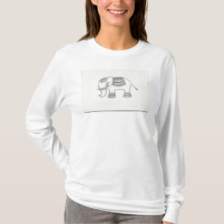 White T-shirt with Indian Design