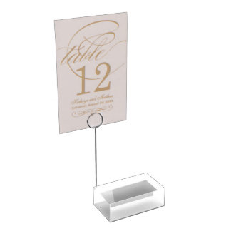 White Table Card Holder