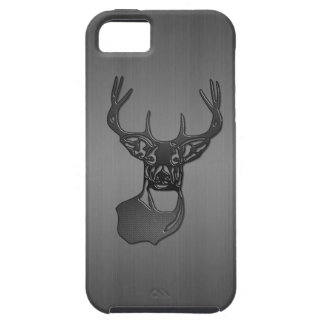 White Tail Buck Deer - Brushed Gun Metal Case For The iPhone 5
