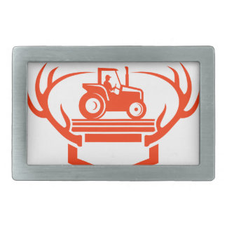 White Tail Deer Antler Tractor Retro Belt Buckles