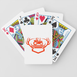 White Tail Deer Antler Tractor Retro Bicycle Playing Cards