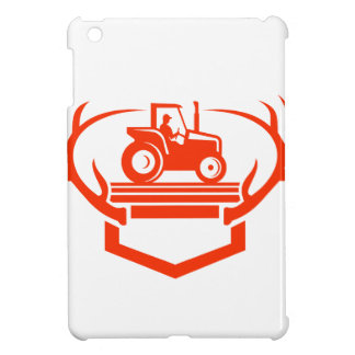 White Tail Deer Antler Tractor Retro iPad Mini Case