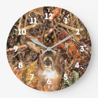 White Tail Deer Head Energy Spirited on a Large Clock