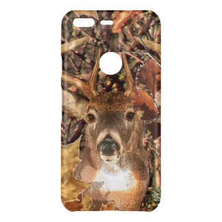White Tail Deer Head Fall Energy Spirited on a Uncommon Google Pixel Case