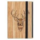 White Tail Deer Head Wood Grain Style Cover For iPad Mini