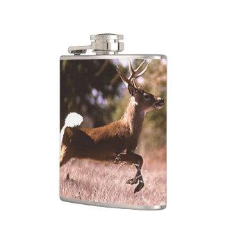 White-Tail Deer Running Hip Flask