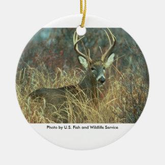 White-tailed Buck Deer Ceramic Ornament