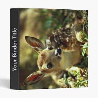 White-tailed Deer Fawn 3 Ring Binder