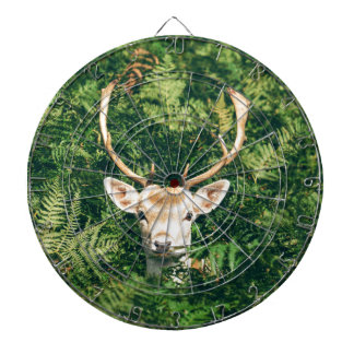 White-Tailed Deer Peeking Out of Bushes Dartboard