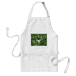 White-Tailed Deer Peeking Out of Bushes Standard Apron