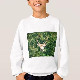 White-Tailed Deer Peeking Out of Bushes Sweatshirt