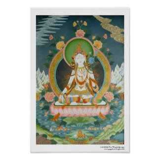 White Tara Poster
