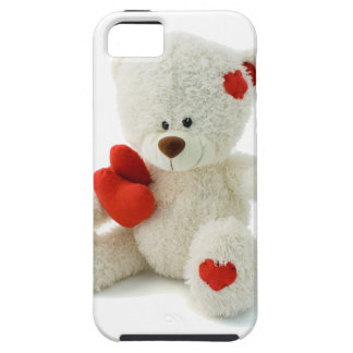 White Teddy bear holding a red heart iPhone 5 Cover