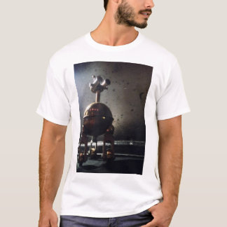 white tee with robot