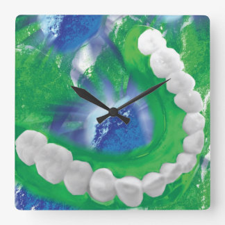 White Teeth Arch Dentist Orthodontist Wall Clock