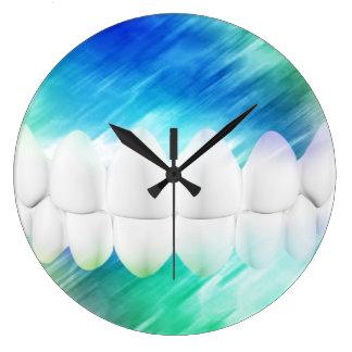 White Teeth Dentist Orthodontist Wall Clock