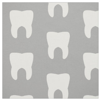 White Teeth On a Grey Background Fabric