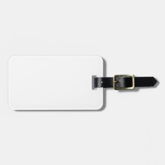 White Template Luggage Tag
